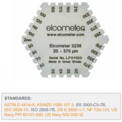 Elcometer 3236 Grzebień metalowy (stal nierdzewna) zakres 25-2000 um