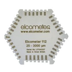 Elcometer 112 Grzebień aluminiowy zakres 25-3000 um.