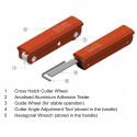 Elcometer 1542- nóż krążkowy ISO Full kit 6x1mm ośmiostronny.