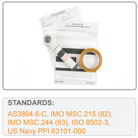 Zestaw do badania zapylenia podłoża. EN ISO 8502-3