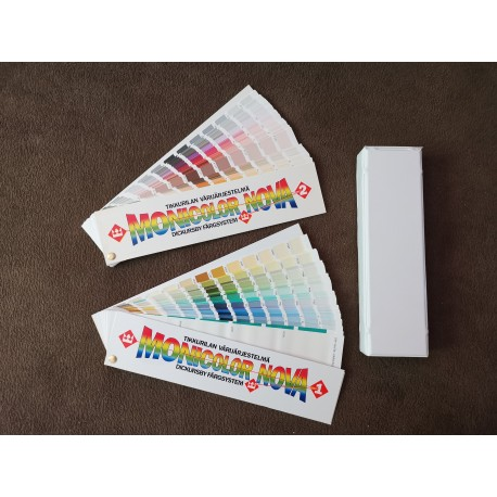 Wzornik kolorów Monicolor NOVA 2024 kolory podwójny wachlarz.